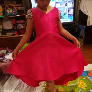 New hot pink dress sz 2T party pageant